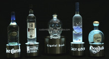 customized acrylic bottle glorifier led lighting base