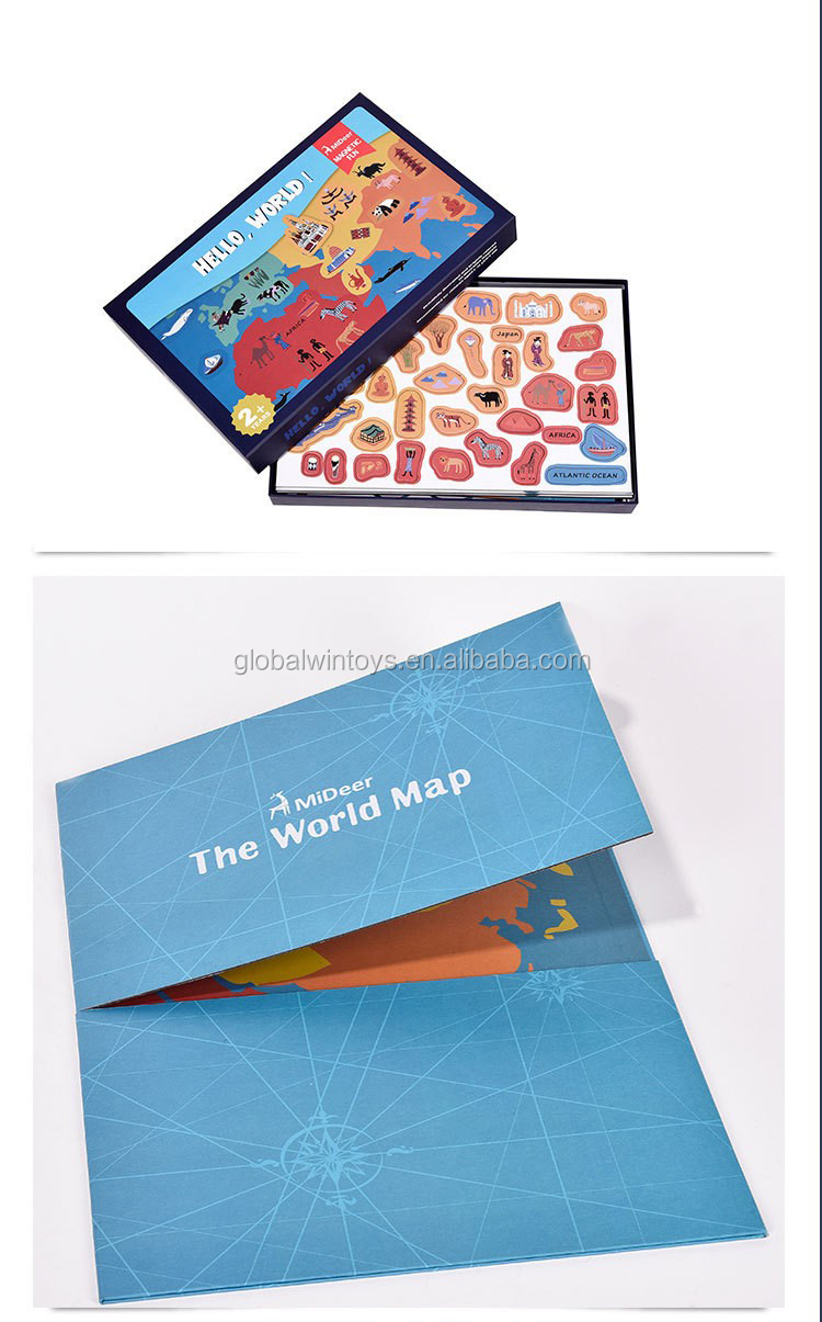 Mideer 131pcs Baby Toys 3D Magnetic Puzzles World map Puzzles Fridge magnet  Children Educational Gift.jpg