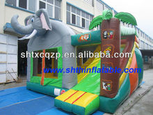 2015 elephant theme/ inflatable bouncer/ inflatable jumping combo with slide