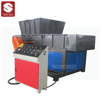 Paper plastic tire tyre wood chipper pipe single double shaft Shredder machine prices