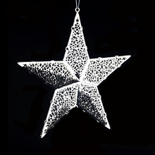 Modern Lovely Shiny Xmas Decorative Metal Christmas Star Tree Topper