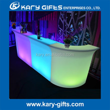 2017 LED Bar Furniture Beer Drinking White LED Bar Counter