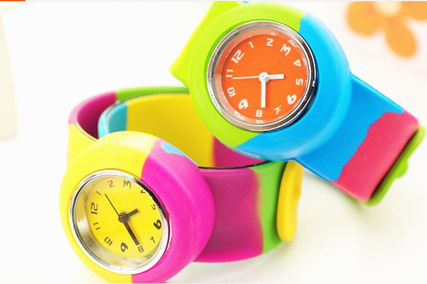 Customized Silicone slap bracelet watch with promotion silicone slap watch