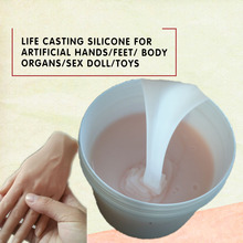 Life casting silicone for artificial hands/feet/body organs/sex doll/toys