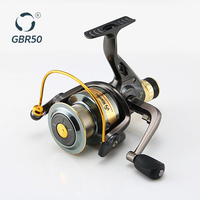 Wholesale Fishing Tackle Rear Drag System Spining Fishing Reel With Metal Spool Pesca China GBR 50