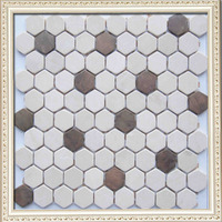 Interior wall decoration mosaic, round metal mosaic tile,kitchen backsplash mosiac with low price