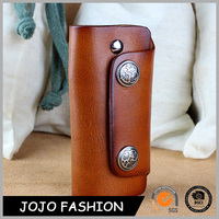 High quality leather key wallet multicolor leather key chain