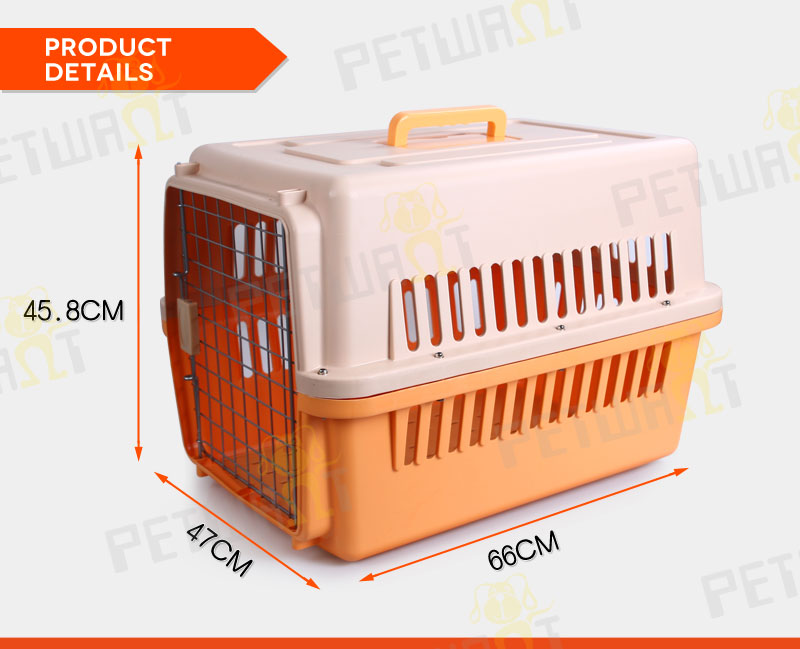 cheap durable wholesale plastic pet dog crates with wheels dog transport pet cage carrier crate