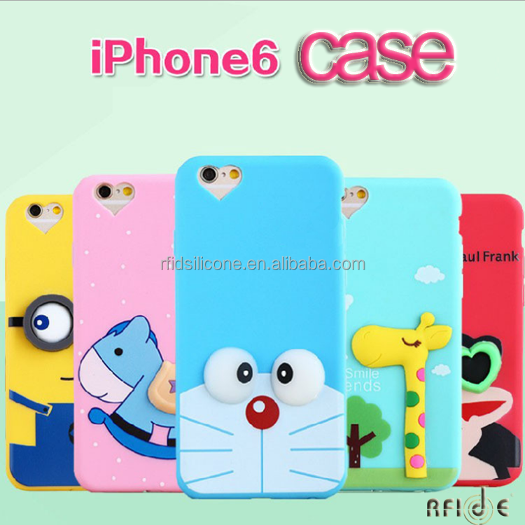 newest cute cartoon cube silicone mobile phone case