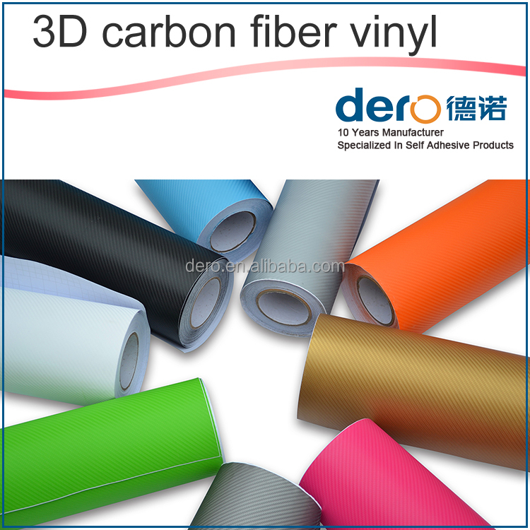 China supplier 3D carbon fiber vinyl film / sticker vinyl warp for car color changing