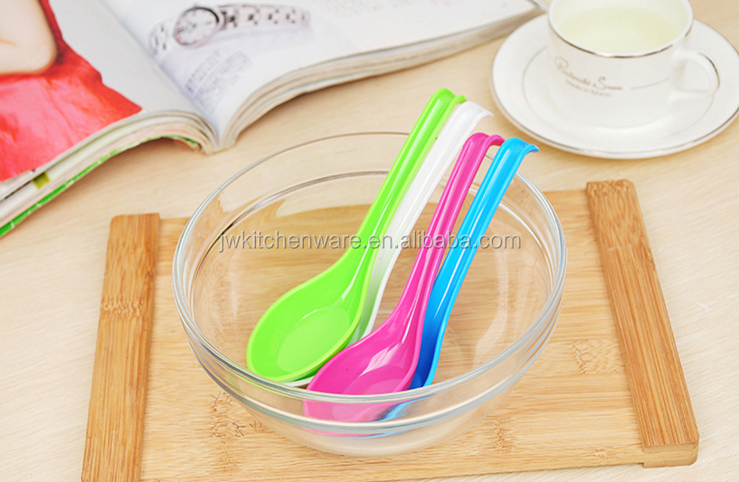 customize plastic spoon/long handle spoon/plastic soup spoon in Ningbo Jiewei