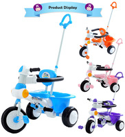 Push And Ride 7 In. Tricycle For Children Bicycle