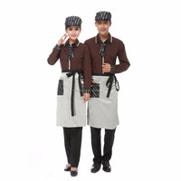 custom new style hotel/restaurant/bar service staff waistcoat uniforms wholesale