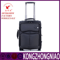 KZN K38 custom design trolley luggage bag nylon fabric soft suitcase