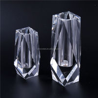 Wholesale prices custom design fashion crystal glass vase directly sale