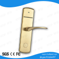 European Style Brass Golden ANSI Mortise IC Smart Card Electronic Door Lock