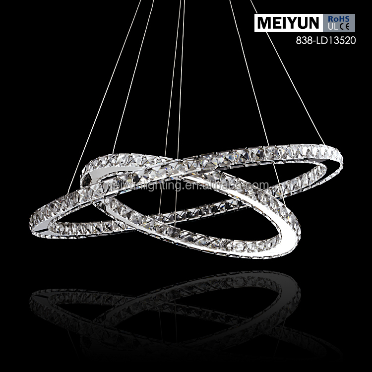Zhongshan LED crystal luxury 3 tier pendant light