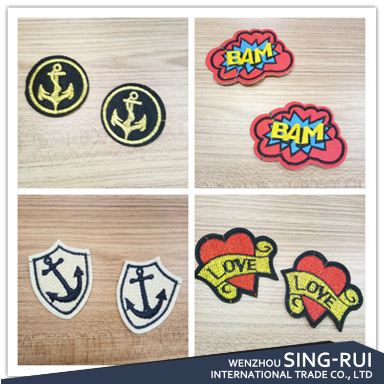 2017 most popular appliques for decoration on shoes bags apperal accessory