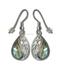 Fashion genuine shell jewelry New Zealand Abalone heart earring jewelry for women abalone shell earrings
