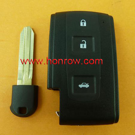 3 buttoncar remote key blank for Toyot crown