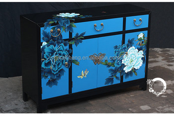 New Product Chinese Style Furniture Handmade Painted Wooden Lacquer Cabinet for Storage Home Decoration and Wedding Souvenirs