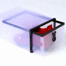 Clear PP Plastic Shoe Box With Drawer