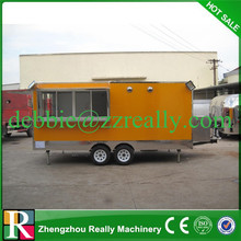 Fashionable Wing Opening Hot Dog Carts Food Cart Truck for Sale