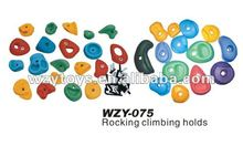 plastic children / kids climbing rock