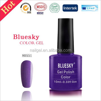 bluesky gel polish 80551,easy Soak Off UV gel ,UV LED Gel Nail Polish OEM