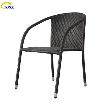 Outdoor wicker chair wicker chair patio steel tube wicker chair