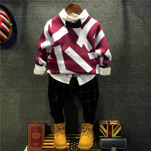 C22245B New Design Child Boys Winter Clothes Cardigan Jeans Boys Clothes
