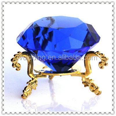 Blue Crystal Fake Diamond With Standing For Table Decoration