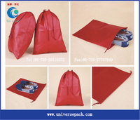 Personal Customized Wholesale Products Shoes Bag Leather Red Drawstring