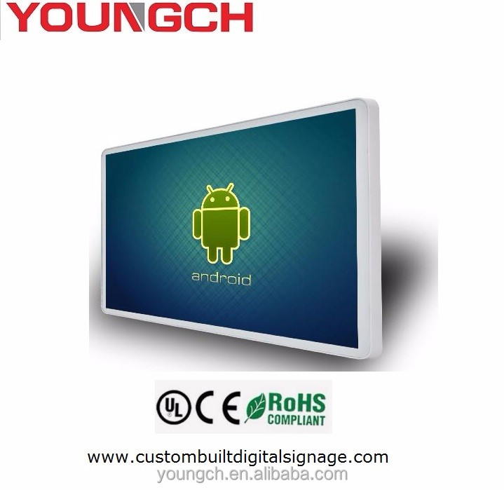 19 inch advertising lcd small display for content publishing in public spaces advanced server system