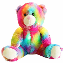 LED Night Glowing Rainbow Stuffed Teddy Bear Plush Toy