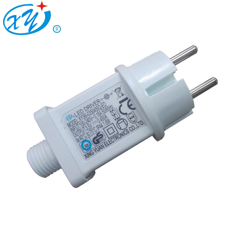 1W~9W IP44 AC/DC Switching power supply universal travel adapter for christmas light with TUV CE certificationion