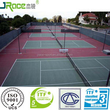 Guangdong anti-slip synthetic sports flooring tennis court surface tennis court cover for school