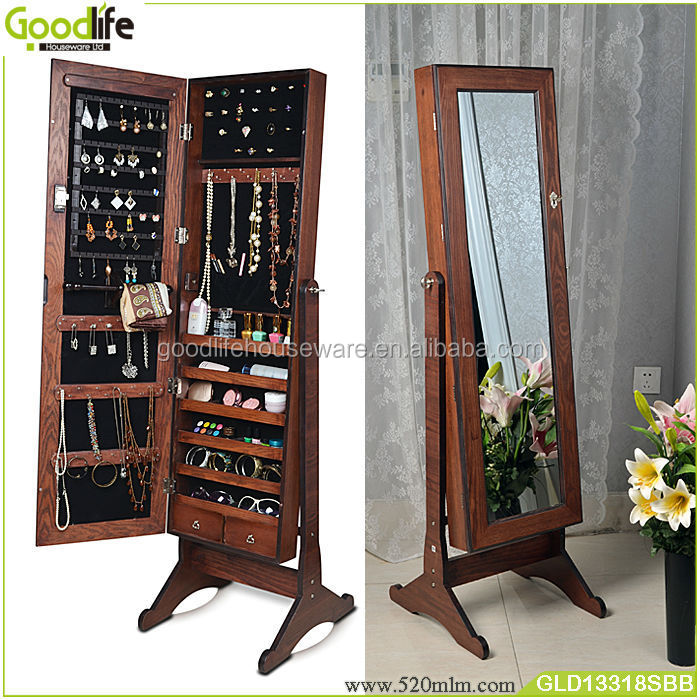 space save home furniture wooden jewelry cabinet