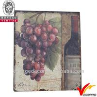 vintage wood wine grape fruit wall plaques from China