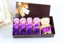 Hot sale custom rose packaging box square flower box luxury with high quality