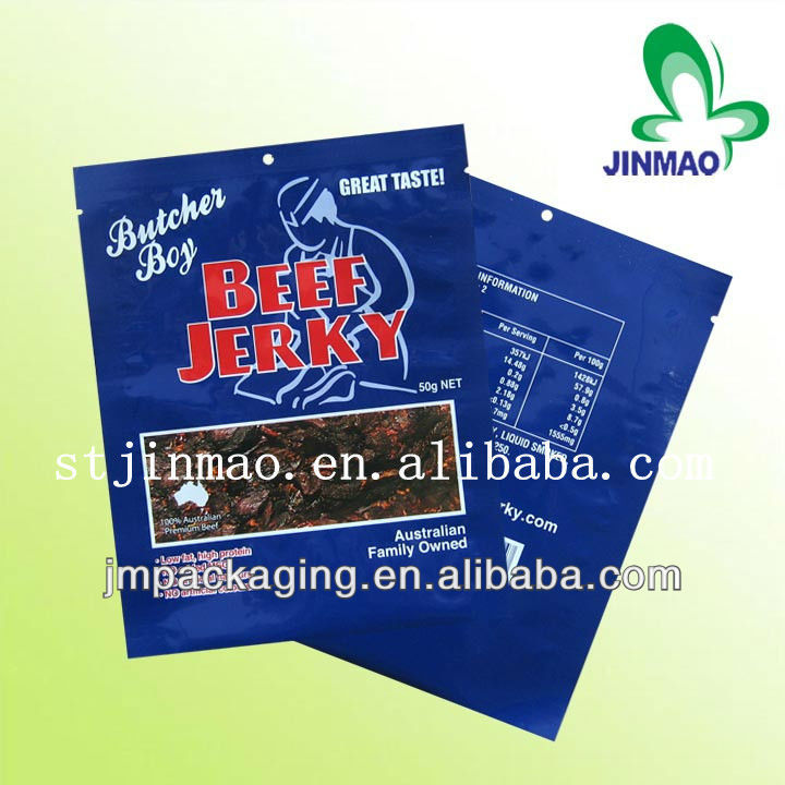 Custom printed and favorable price custom beef jerky packaging bags/dried beef package bags/plastic bag for beef jerky