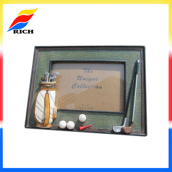 customized golf sports design picture frame manufacturer wholesale