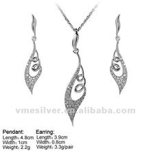 925 Silver Jewelry pendant and earring sets Micro Pave CZ