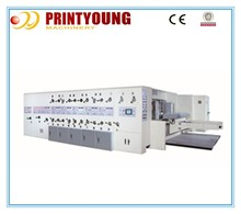 K4 Full-auto corrugated carton flexo printing machinery with slotting and die-cutting