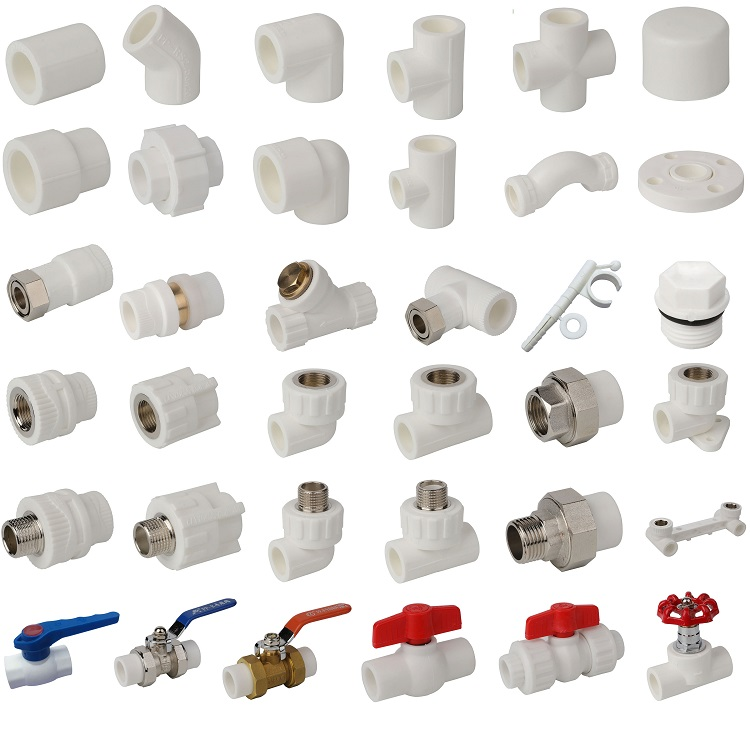 Plumbing materials pipe fittings for hot and cold water