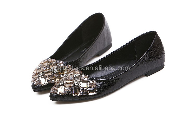 2014 women flat shoes ladies fancy flats Pretty Steps Guangzhou China