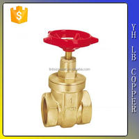 LINBO-C922 cw617 CW614N size 3/4 2 inch with iron wheel handle forged api 600 brass gate and globe valve gear operator