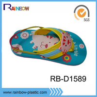 fancy style decorated cute kids animal shoes with elastic band