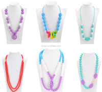 Food Grade Silicone Material Costume Jewelry Necklaces For Baby Teething