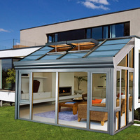 Custome garden glass houses aluminum profile glass sunroom